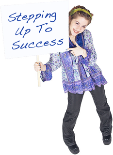 stepping-up-to-success-girl-with-sign